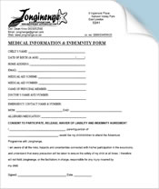 Download Indemnity / Booking Form  Indemnity Forms